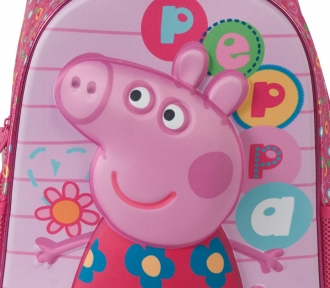 mochila grande peppa pig colorful detalhe