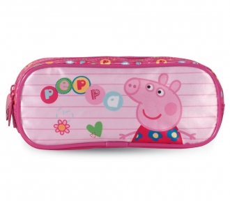 estojo peppa pig colorful duplo frente