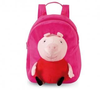 mochila grande plush peppa pig frente