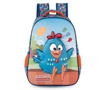 mochila media galinha pintadinha dia feliz frente
