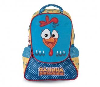 mochila media galinha pintadinha magic frente