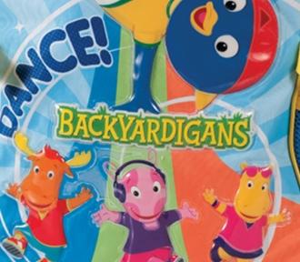mochila media backyardigans dance detalhe