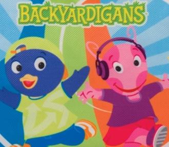 estojo backyardigans dance duplo detalhe
