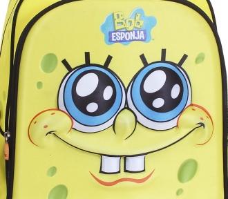 mochilete grande bob esponja yellow ii detalhe