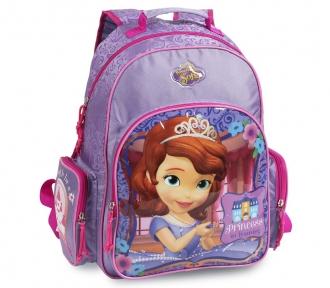 mochila grande princesa sofia training frente