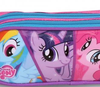 estojo my little pony duplo detalhe