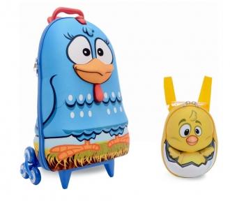 mochilete galinha pintadinha frente