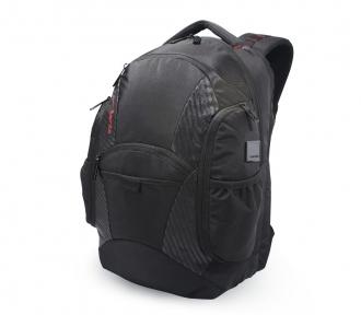 mochila costal juvenil blast preto e carbono frente