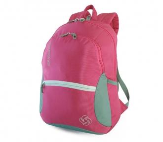 mochila costal juvenil octane rosa frente