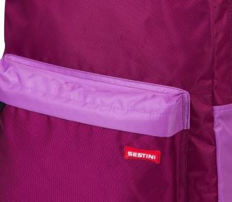 mochila grande sestini 15m rosa lado