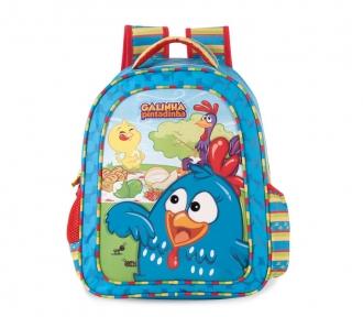 mochila grande galinha pintadinha aventura frente