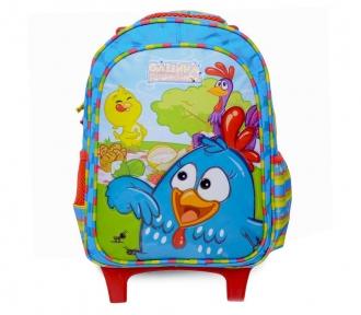 mochilete media galinha pintadinha aventura frente