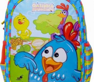 mochilete media galinha pintadinha aventura detalhe