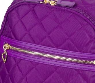 mochila grande quilt roxo detalhe