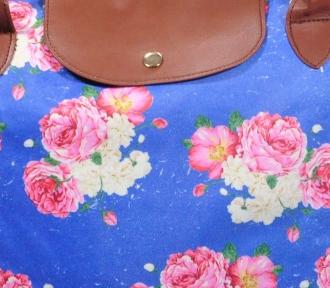 bolsa tote capricho flowers detalhe