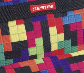 Mochila Sestini Authentic 16T01 Tetris Grande Detalhe