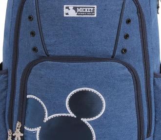 mochila disney vintage jeans grande detalhe