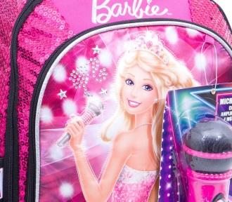 mochilete barbie rockn royals rosa média detalhe