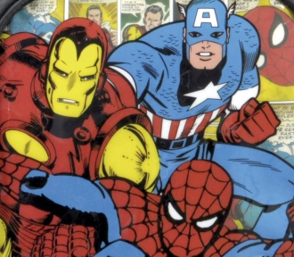 lancheira marvel comics vintage detalhe