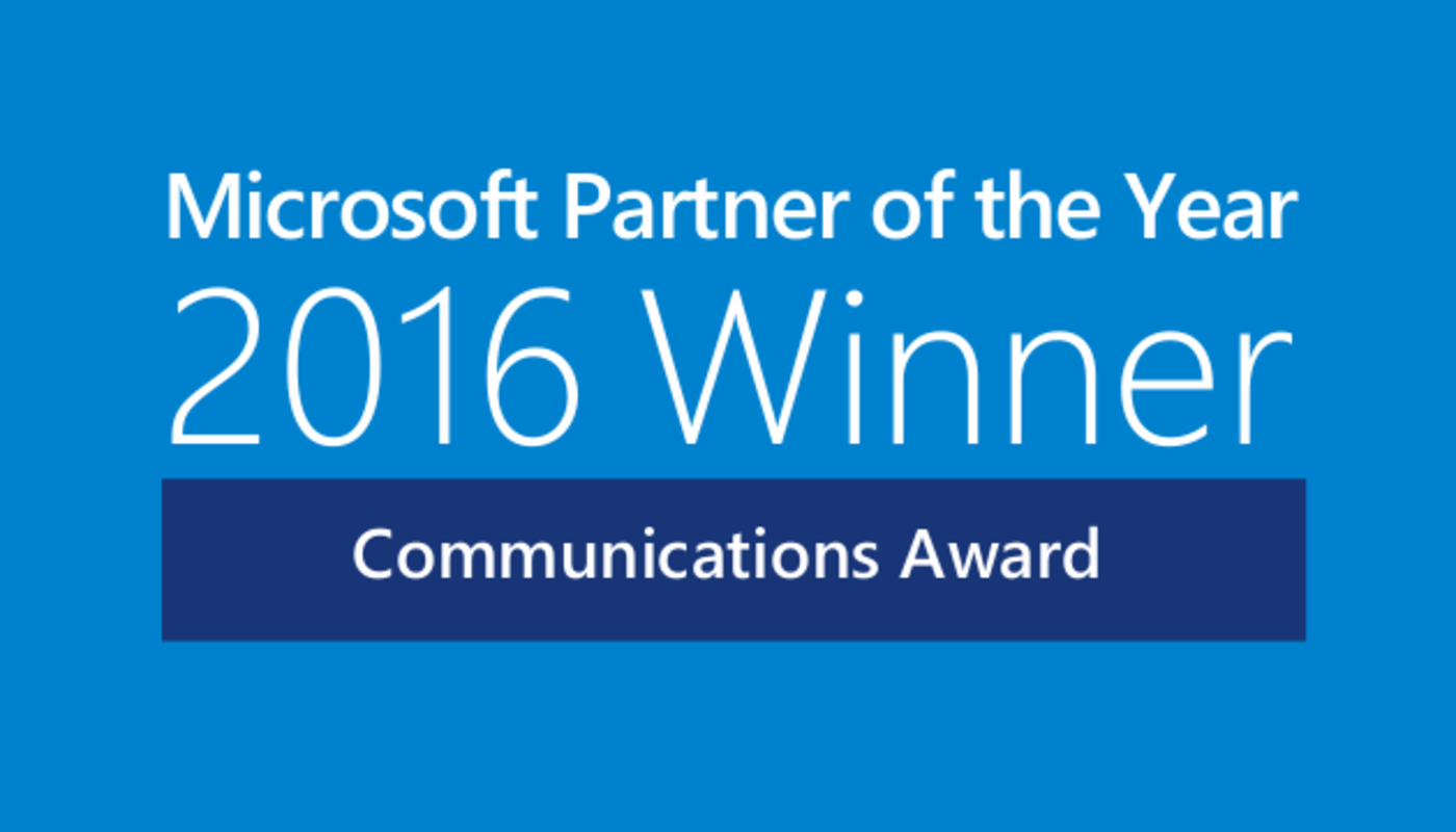 Normal2x microsoft communications partner of the year 2016