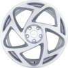 R8s5 wheels   matte silver machine face 3