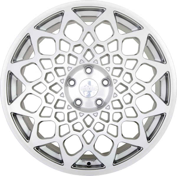19x8.5 radi8 r8b12 wheels   matte silver machine face  2
