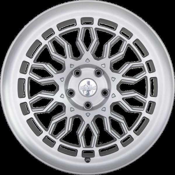 Radi8 r8a10 wheels   matte silver machined 1
