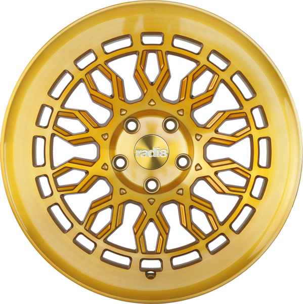 Radi8 r8a10 wheels   gold brushed face 1