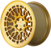 Radi8 r8a10 wheels   gold brushed face 2