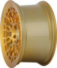 Radi8 r8a10 wheels   gold brushed face 3