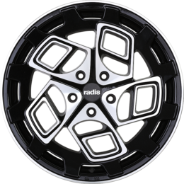 Radi8 r8cm9 wheels   black machined face  1