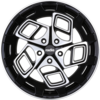 Radi8 r8cm9 Wheels - Black/Machined Face
