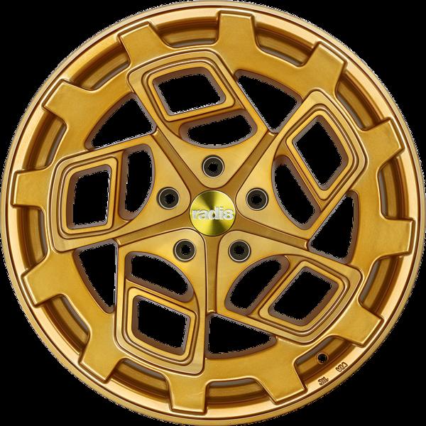 Radi8 r8cm9 wheels   gold brushed face   2