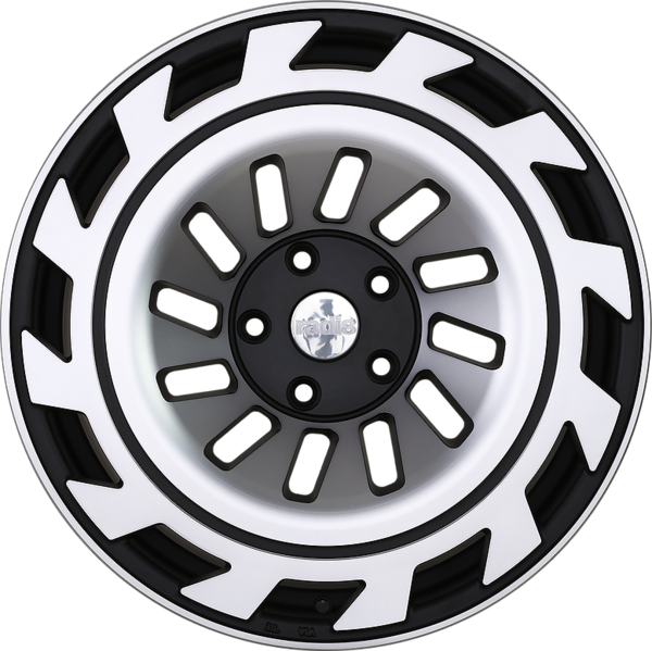 Radi8 r8t12 wheels   black machined face 1