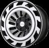 Radi8 r8t12 wheels   black machined face 2