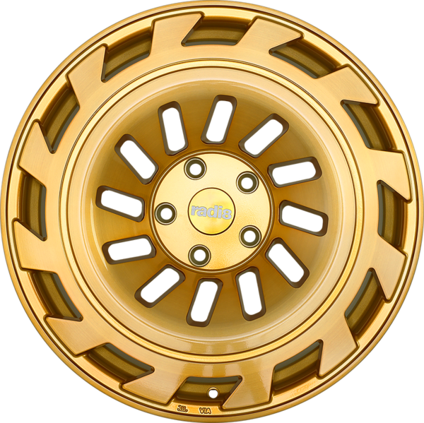 Radi8 r8t12 wheels   gold brushed face 2