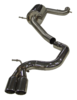 "Billy Boat 3"" Twin Tips Catback Exhaust System - Sport (A3 FWD 09-13)"