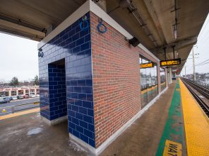 Exterior of Platform Waiting Room at Merrick Station - 01-29-19