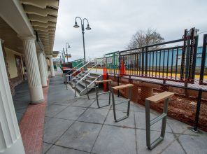 New Bicycle Racks at Port Jefferson Station - 01-29-19