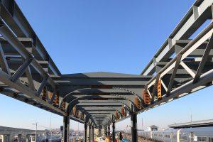 Jamaica Capacity Improvements - Canopy Steel - Facing West - 02-04-19