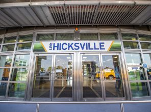 Hicksville Station Entrance 09-06-18 (Photo by MTA Capital Construction/Trent Reeves)