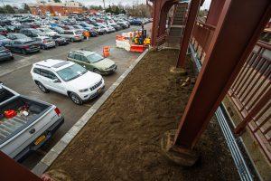 Retaining Wall below Westbound Platform - Syosset Station - 12-14-18