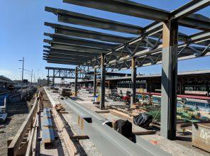 Jamaica Capacity Improvements - Erection of Platform Canopy Steel in Progress 10-23-18