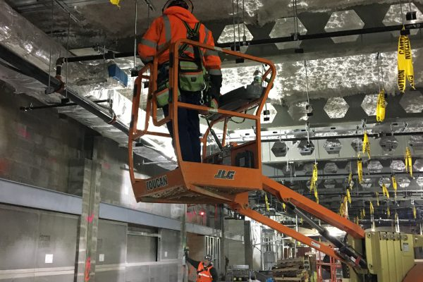 Metal framing in the future LIRR passenger concourse 03-18-19