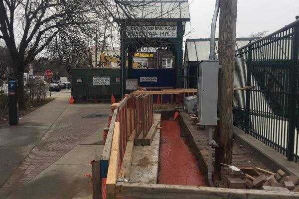 Installation of Elevators at Murray Hill Station 1-4-19