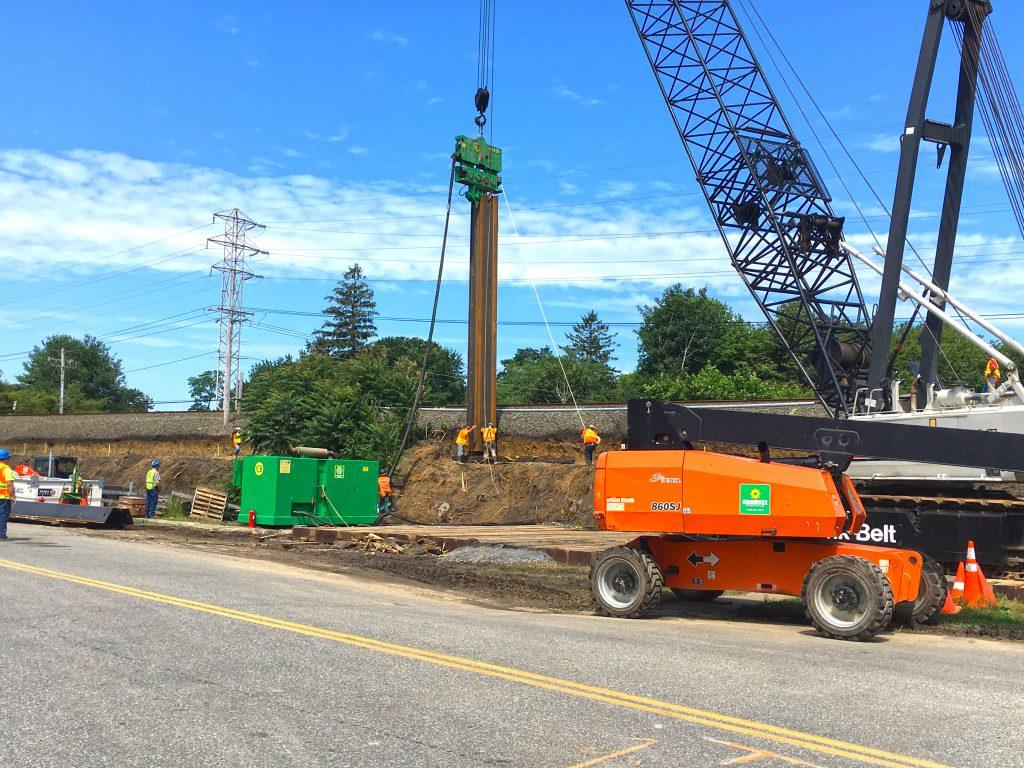 Accabonac Road Bridge - Temp Sheet Pile Wall - 07-24-19