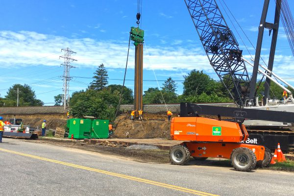 Accabonac Road Bridge - Temp Sheet Pile Wall - 07-24-19