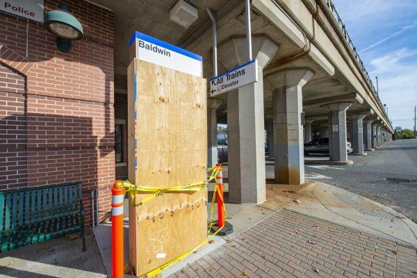 Baldwin Station - Installation of New Information Totems Underway - 11-08-18