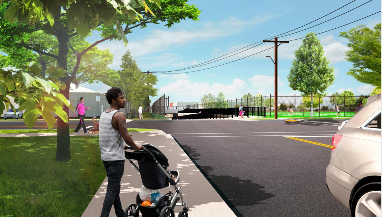 Urban Avenue Grade Crossing Elimination (rendering)