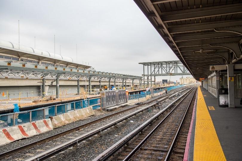 Construction of New Jamaica Station Platform Progresses - A Modern LI